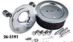 Arlen Ness Big Sucker Stage 2 Air Cleaner Kit With Cover SS Filter Black #18-356